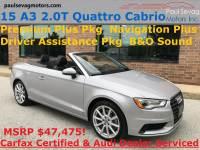 Used 2015 Audi A3 2.0T Premium Plus Quattro For Sale at Paul Sevag Motors, Inc. | VIN: WAU3FLFF7F1129930