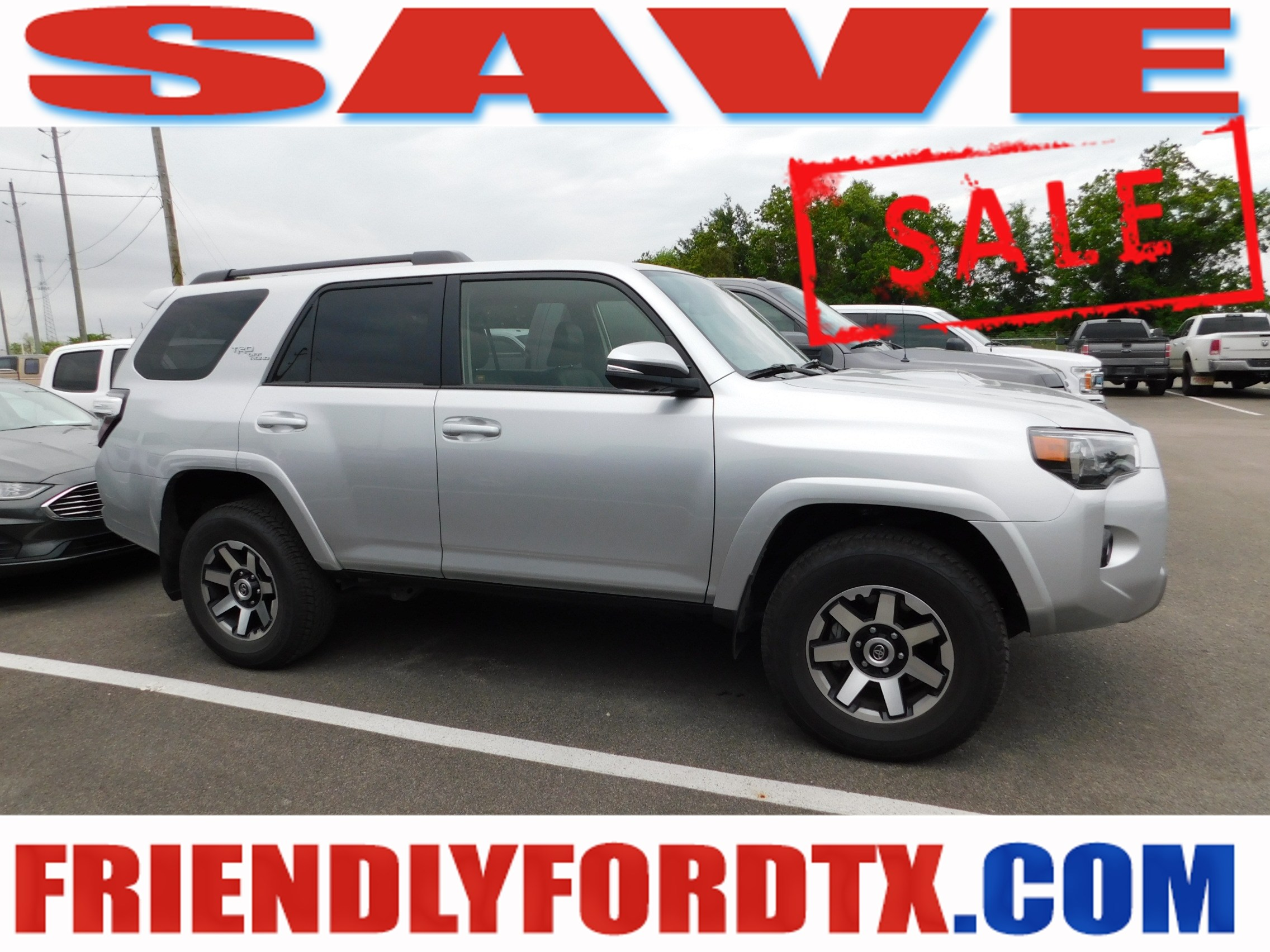 Photo Used 2019 Toyota 4Runner TRD Off-Road Premium SUV V6 SMPI DOHC for Sale in Crosby near Houston