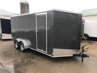 2019 Pace American 7x16 Tandem Axle V-Nose Outback Cargo DLX Ramp Door +Height