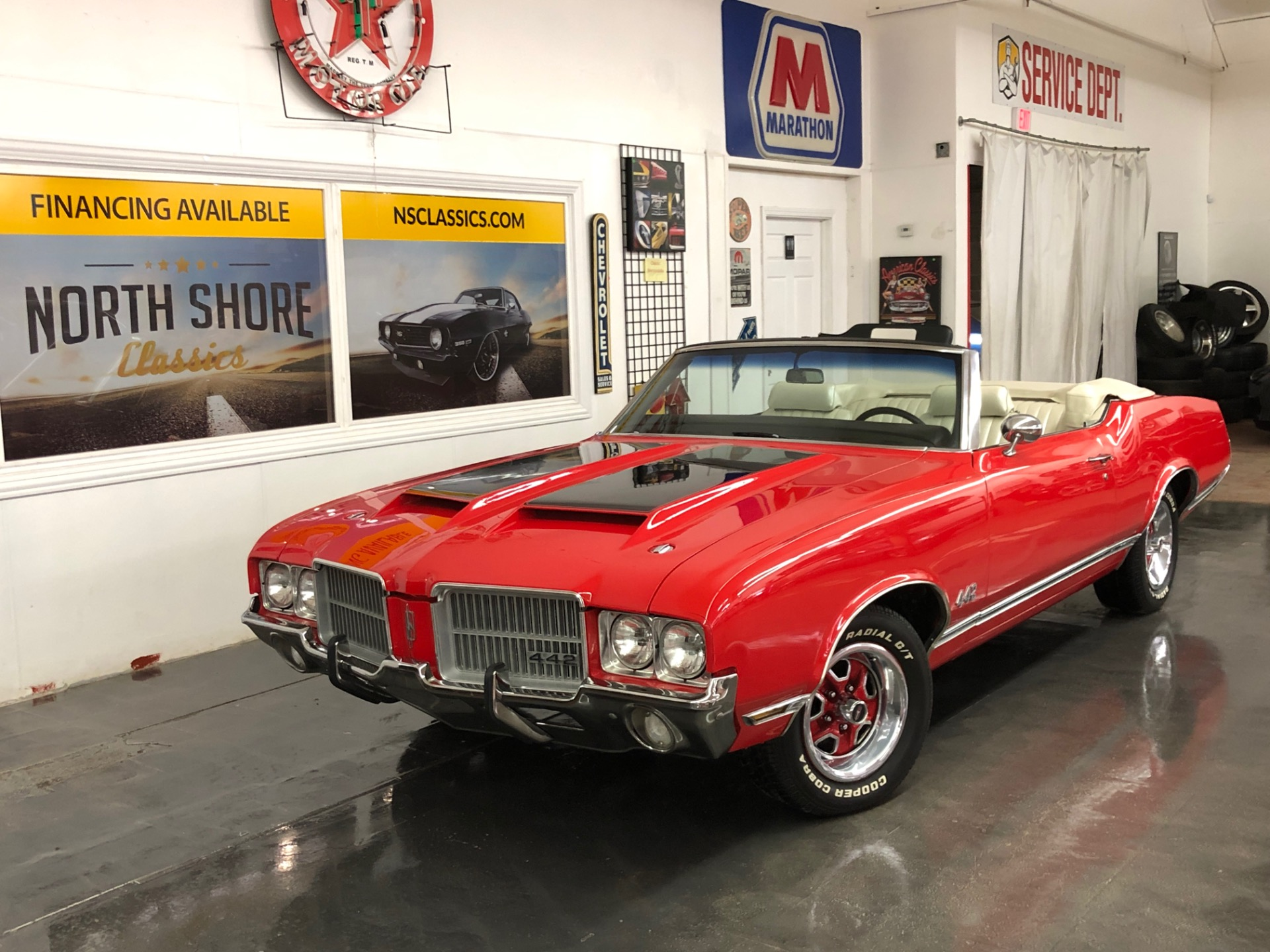 Photo 1971 Oldsmobile Cutlass -442 CLONE-MINT CONDITION CONVERTIBLE-BUCKET SEATS-CENTER CONSOLE-SEE VIDEO