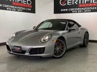 2017 Porsche 911 CARRERA S CABRIOLET MANUAL TRANSMISSION NAVIGATION REAR CAMERA PARK ASSIST