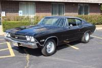 1968 Chevrolet Chevelle -REAL SS396 WITH 4 SPEED AND 138 VIN- JET BLACK READY TO RUMBLE-