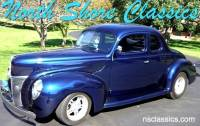 1940 Ford Deluxe COUPE -BEAUTIFUL RIDE- MIDNIGHT BLUE WITH GHOST FLAMES-