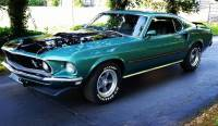 1969 Ford Mustang - MACH 1- TRUE M-CODE SILVER JADE CLASSIC-