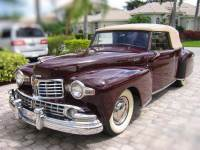 1948 Lincoln Continental -CABRIOLET- AWARD WINNING- RARE CONVERTIBLE CLASSIC- FLORIDA CAR-