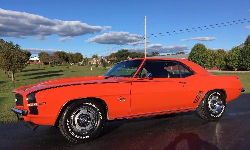 Photo 1969 Chevrolet Camaro -X11 REAL SUPERSPORT-NEW HUGGER ORANGE PAINT-SOUTHERN CAR-REAL SS350-
