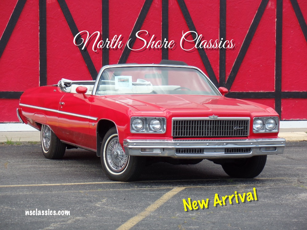 Photo 1975 Chevrolet Caprice Classic HOT RED SUMMER FUN CONVERTIBLE-SEE VIDEO