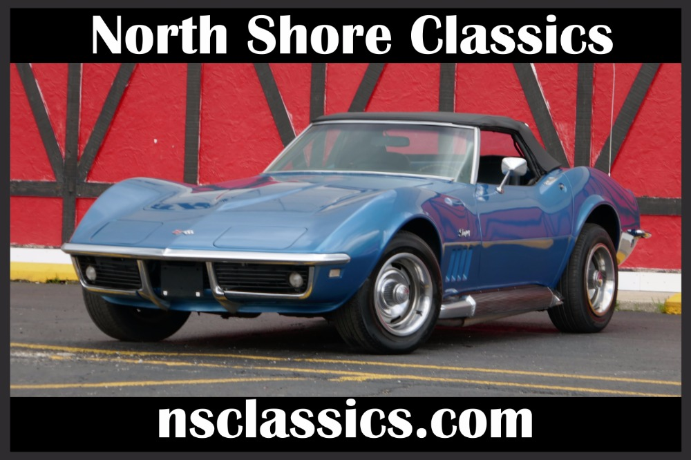 Photo 1968 Chevrolet Corvette Convertible Stingray-Marina Blue with 4 speed-