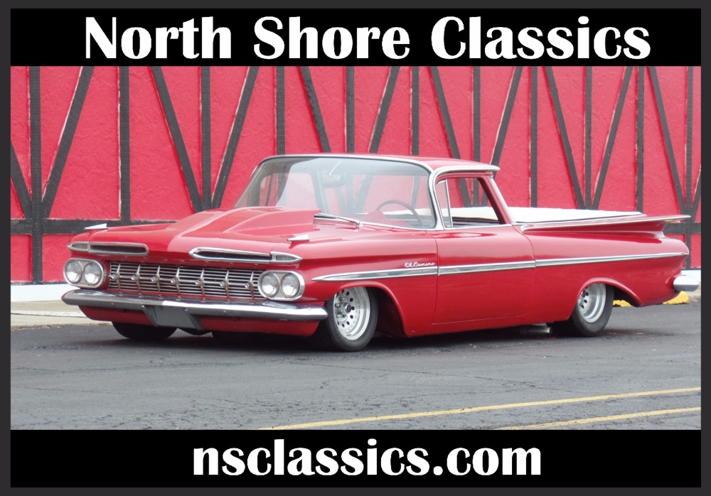 Photo 1959 Chevrolet El Camino SLAMMED-Supercharged Big block 454-AIR RIDE- SEE VIDEO
