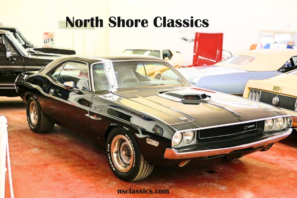 Photo 1970 Dodge Challenger -BLACK ON BLACK-360- FRESH RESTORED-NEW JET BLACK PAINT-SHAKER HOOD-