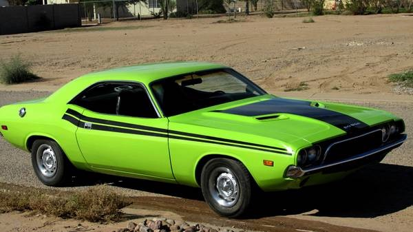 Photo 1973 Dodge Challenger RT Tribute-SUB LIME-RUST FREE FROM ARIZONA-SEE VIDEO