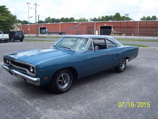 Photo 1970 Plymouth Road Runner BEAUTIFUL JAMAICAN BLUE-NUMBERS MATCHING
