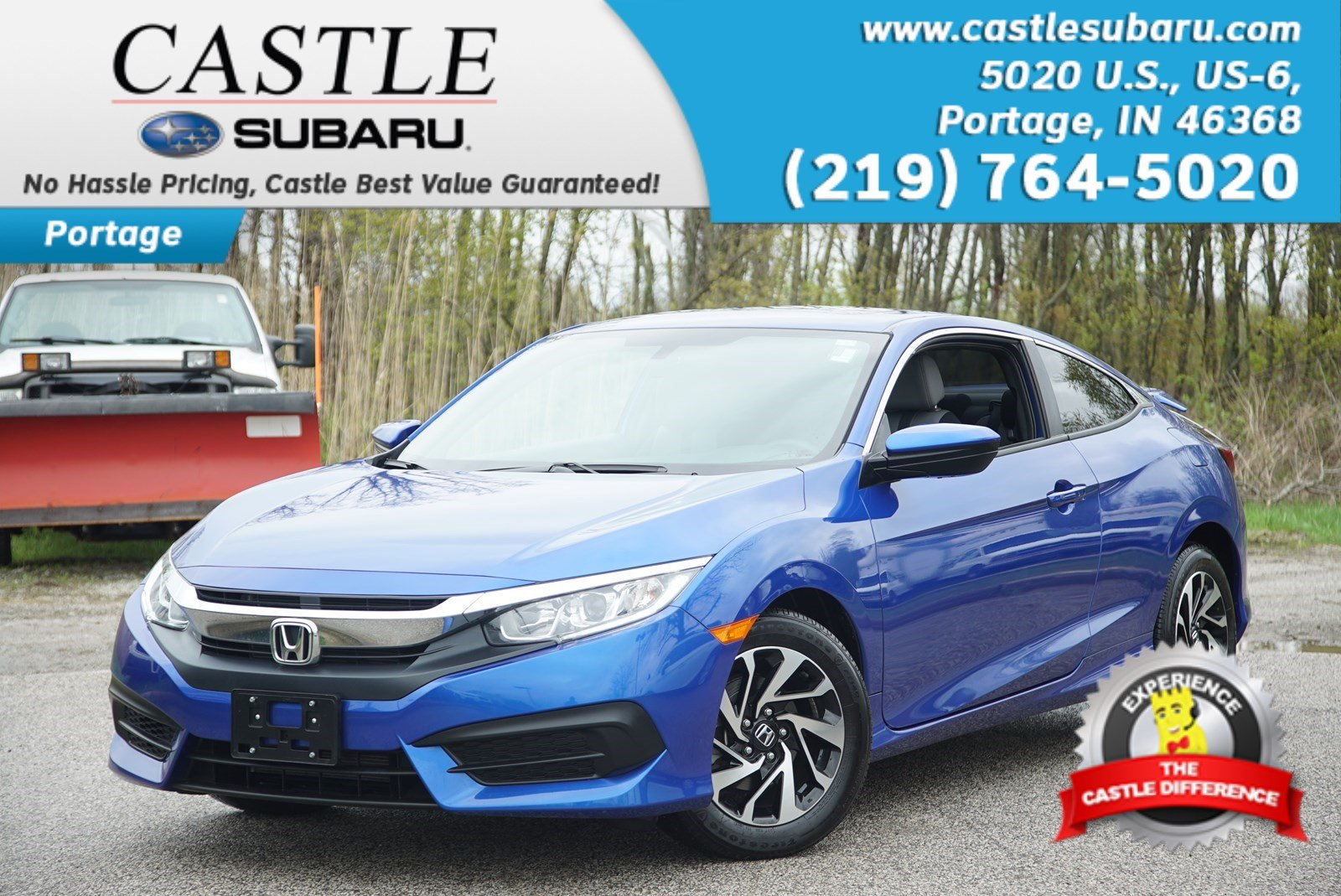 Photo Used 2017 Honda Civic Coupe LX-P for Sale in Portage near Hammond