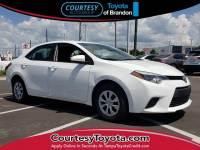 Certified 2015 Toyota Corolla L Sedan near Tampa FL