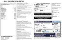 2014 Rolls-Royce Phantom Series II~$519,940 MSRP!~CPO WARRANTY~STARLIGHT~CURTAINS