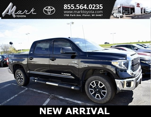 Photo Certified Pre-Owned 2018 Toyota Tundra SR5 CrewMax 5.7L V8 4x4 wTRD Off Road Package  S Truck in Plover, WI