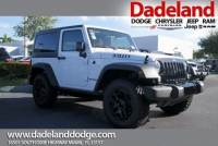 Certified Used 2017 Jeep Wrangler Willys Wheeler SUV in Miami