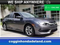 Certified 2016 Honda Civic LX Sedan in Jacksonville FL