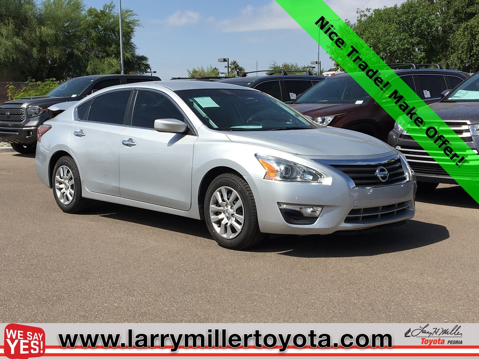 Photo Used 2015 Nissan Altima For Sale  Peoria AZ  Call 602-910-4763 on Stock 90271B