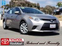 2014 Toyota Corolla LE Sedan Front-wheel Drive in Carlsbad