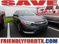 Used 2016 Honda Civic LX Sedan I4 DOHC 16V i-VTEC for Sale in Crosby near Houston