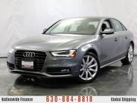 2014 Audi A4 2.0L Turbocharged Engine AWD Premium S-Line w/ Power Glass Sunroof, Audi Concert Premium Sound System, Bluetooth Connectivity, Xenon Plus Lighting, Heated Leather Front Seats