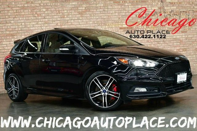 Photo 2017 Ford Focus ST - 2.0L 4-CYL TURBOCHARGED ENGINE 6-SPEED MANUAL TRANSMISSION FRONT WHEEL DRIVE 1 OWNER BLACK LEATHERSUEDE RECARO SEATS NAVIGATION BACKUP CAMERA SUNROOF