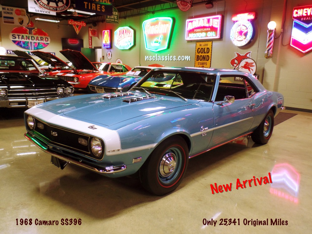 Photo 1968 Chevrolet Camaro CONCOURS FACTORY SS396 WITH 4 SPEED-ONLY 25,341 ORIGINAL MILES-SHOW QUALITY