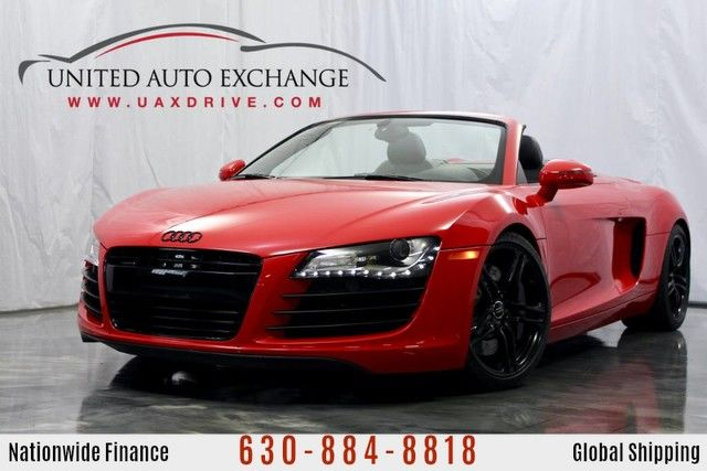 Photo 2012 Audi R8 4.2L V8 Engine AWD Quattro CONVERTIBLE w Navigation, Front and Rear Parking Aid with Rear View Camera, Bang and Olufsen Sound System, Custom Exhaust