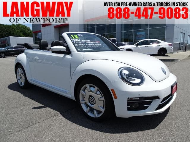 Photo Pre-Owned 2018 Volkswagen Beetle 2.0T Coast Convertible Front-wheel Drive in Middletown, RI Near Newport