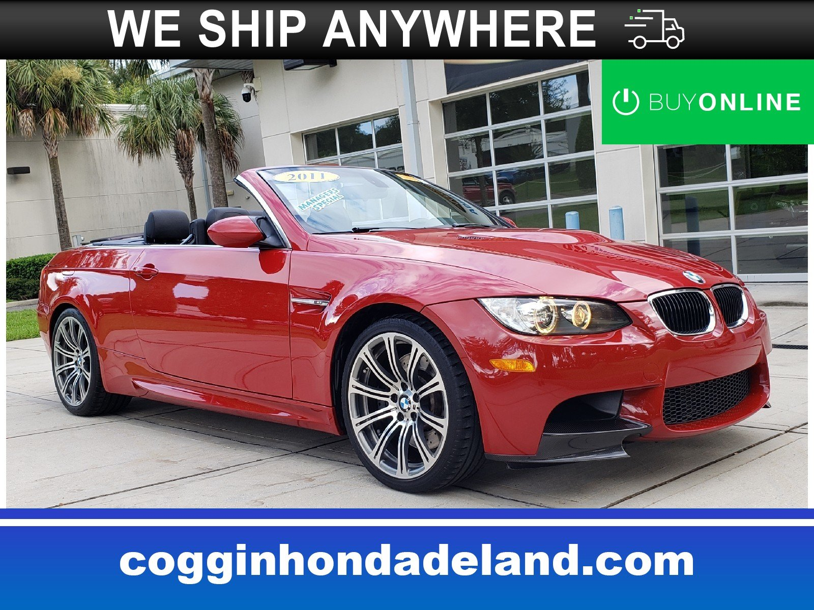 Photo Pre-Owned 2011 BMW M3 Base Convertible in Jacksonville FL