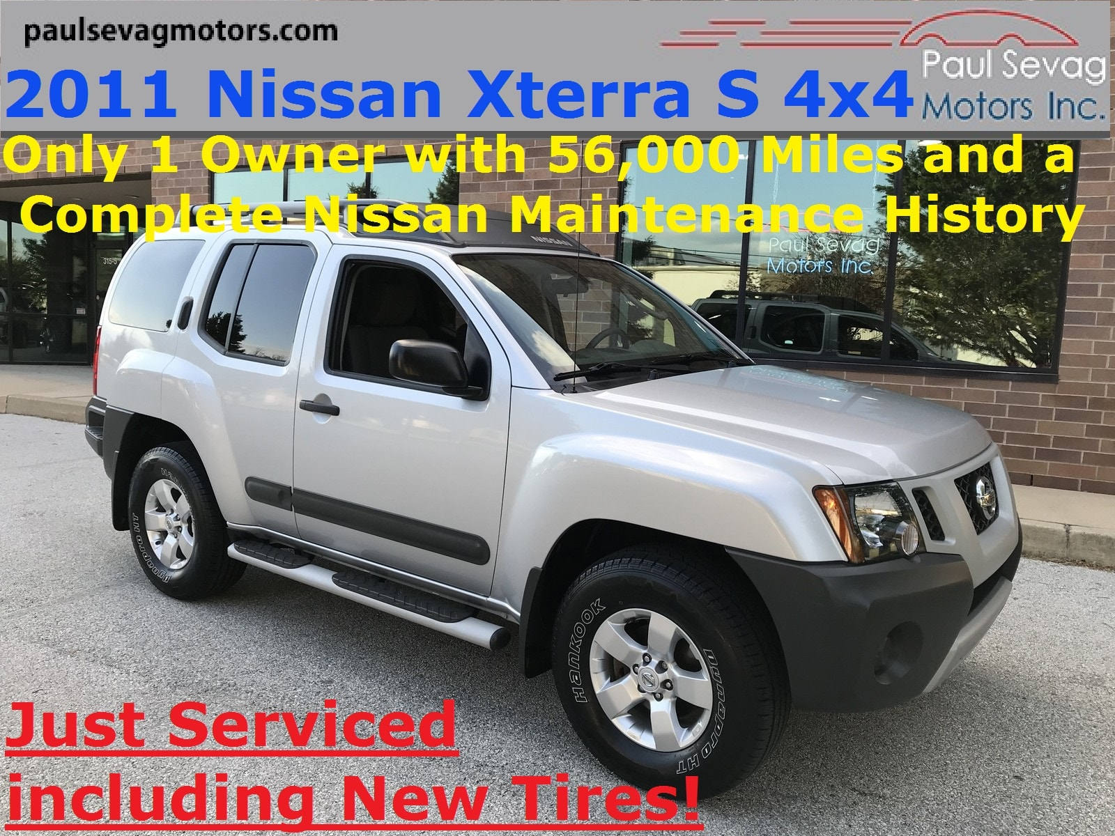 Photo Used 2011 Nissan Xterra S 4x4 For Sale at Paul Sevag Motors, Inc.  VIN 5N1AN0NW2BC523097