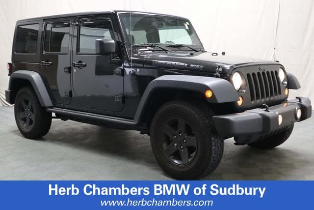 Photo Pre-Owned 2016 Jeep Wrangler JK Unlimited Black Bear SUV in Sudbury, MA