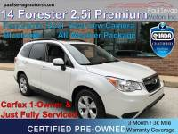 Used 2014 Subaru Forester 2.5i Premium AWD For Sale at Paul Sevag Motors, Inc. | VIN: JF2SJAEC6EH536900