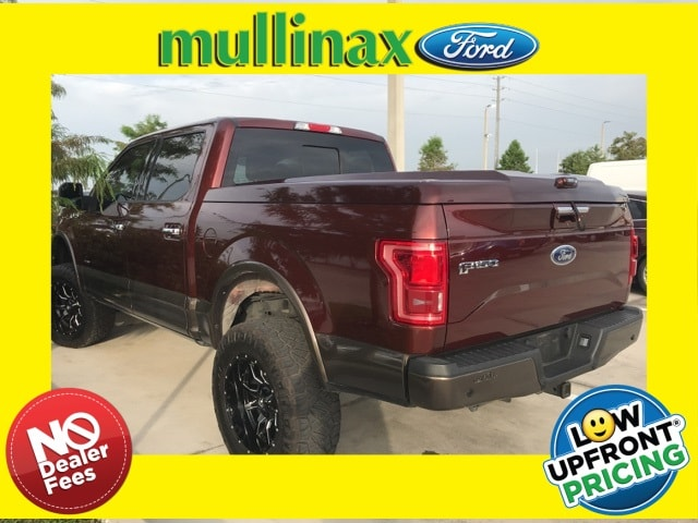 Photo Used 2015 Ford F-150 Lariat Lifted W Luxury Package, Twin Panel Moonr Truck SuperCrew Cab V-6 cyl in Kissimmee, FL