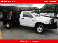 2007 Dodge Ram 3500 REG. CAB 4X4 FLAT DECK DIESEL MANUAL TRANS, WINCH