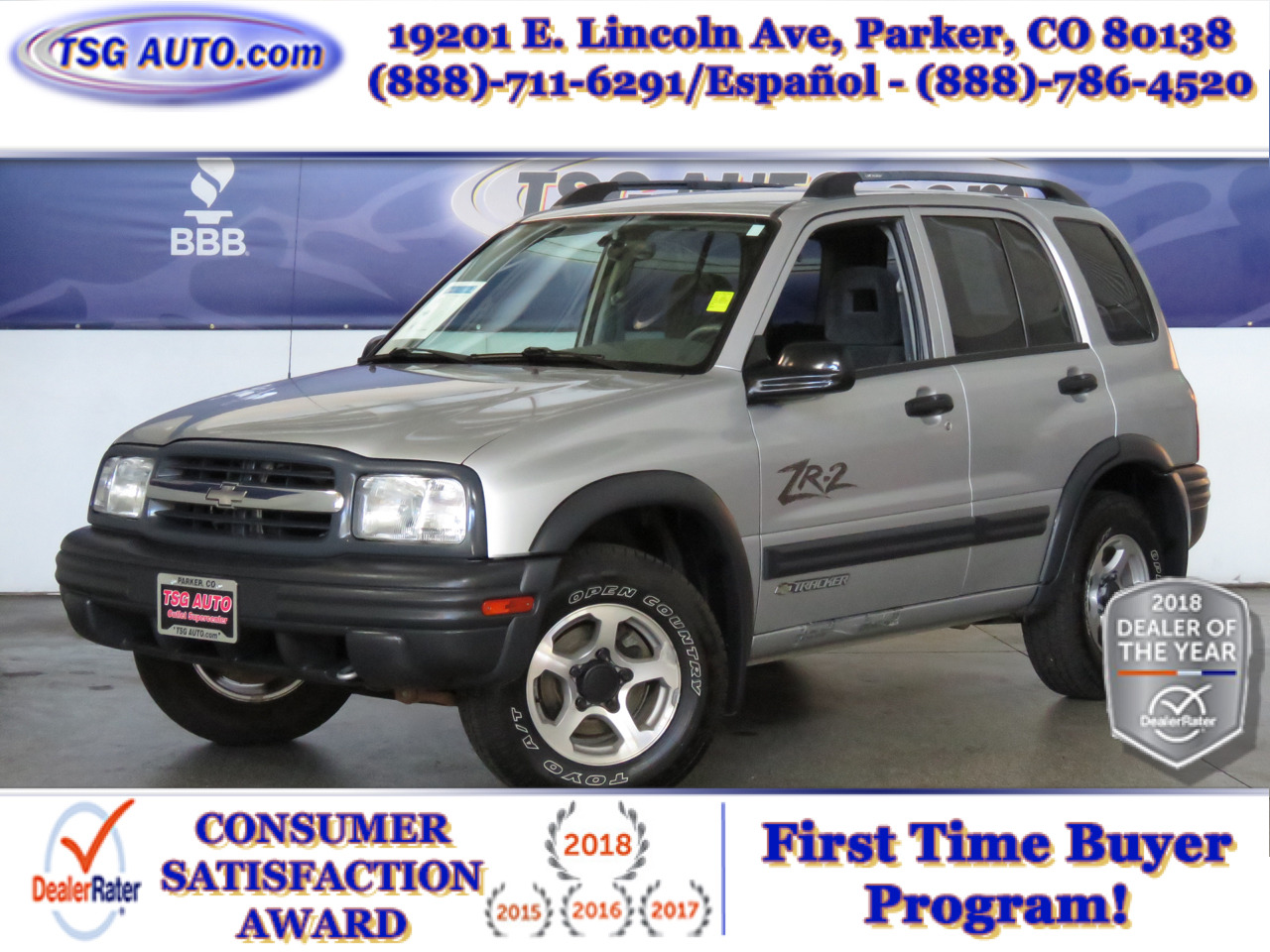Photo 2003 Chevrolet Tracker 4dr Hardtop 4WD ZR2 RARE LOW MILES