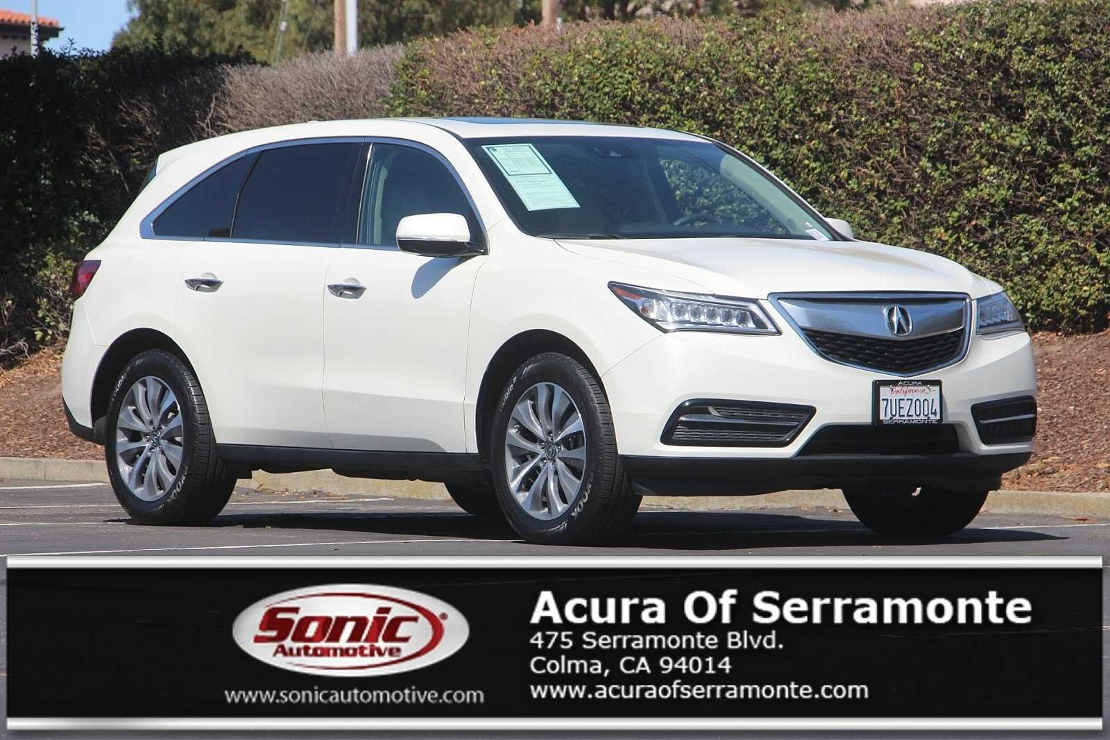 Photo Used 2016 Acura MDX 3.5L wTechnology Package For Sale in Colma CA  Stock BGB017134  San Francisco Bay Area