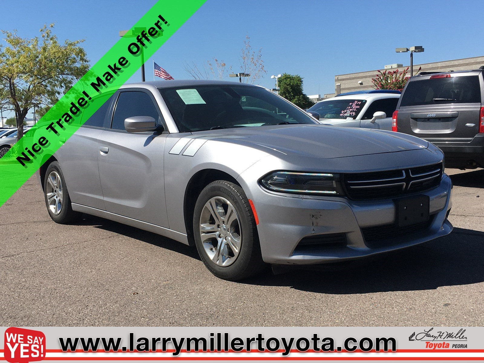 Photo Used 2015 Dodge Charger For Sale  Peoria AZ  Call 602-910-4763 on Stock 92358A