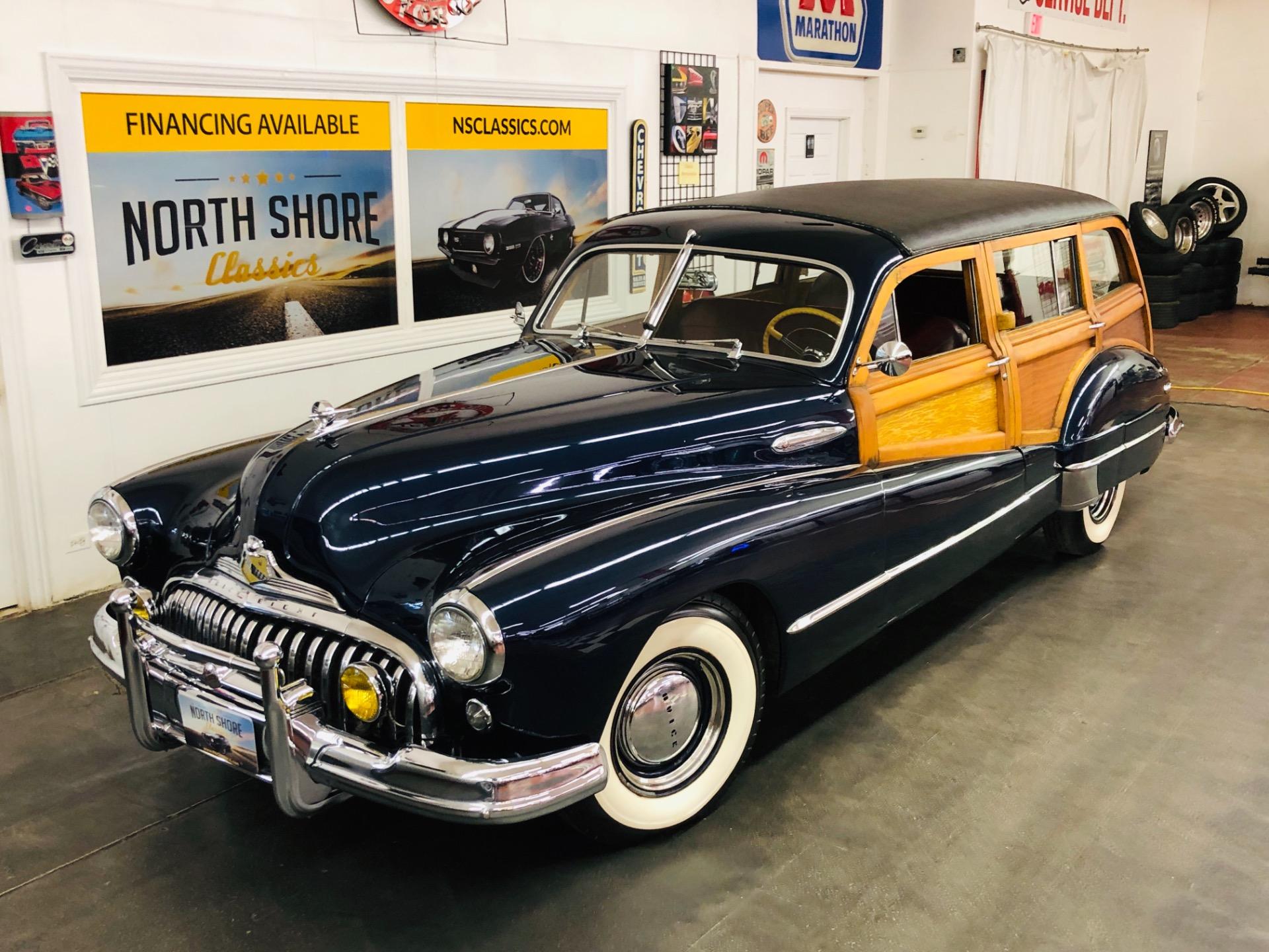 Photo 1947 Buick Roadmaster -ESTATE WAGON - SUPER RARE WOODY - MECHANICALLY SOUND - FIREBALL 8 ENGINE