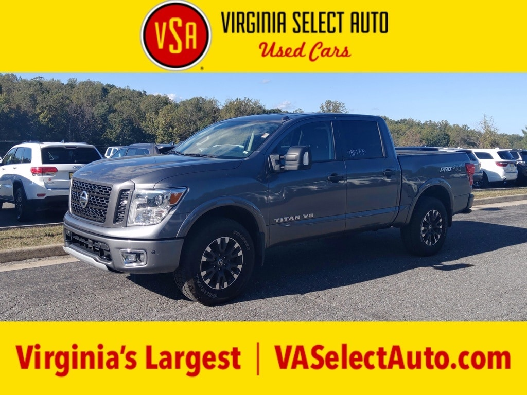 Photo Used 2019 Nissan Titan Pro-4X Crew Cab 4x4 Truck for sale in Amherst, VA