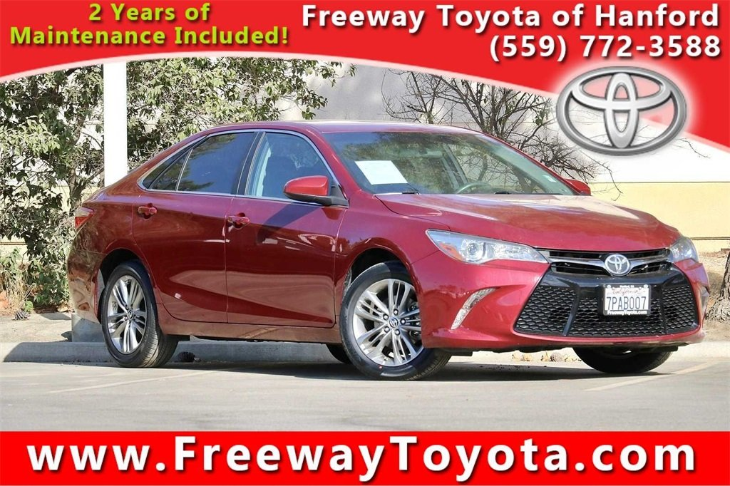 Photo 2016 Toyota Camry SE Sedan Front-wheel Drive - Used Car Dealer Serving Fresno, Central Valley, CA