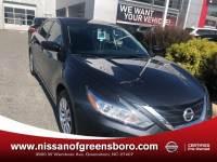 Certified 2018 Nissan Altima 2.5 S Sedan in Greensboro NC