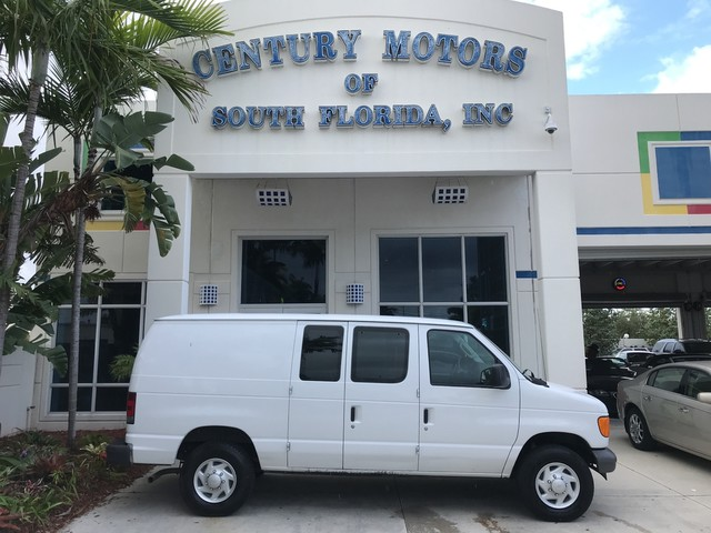 Photo 2007 Ford Econoline Cargo Van Commercial Partition with Rear Shelves and Storage