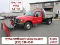 Used 2000 Ford F-350 4x4 Reg Cab Dump Plow Truck