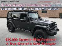 Used 2016 Jeep Wrangler Unlimited Sahara Backcountry 4x4 For Sale at Paul Sevag Motors, Inc. | VIN: 1C4HJWEG3GL162920