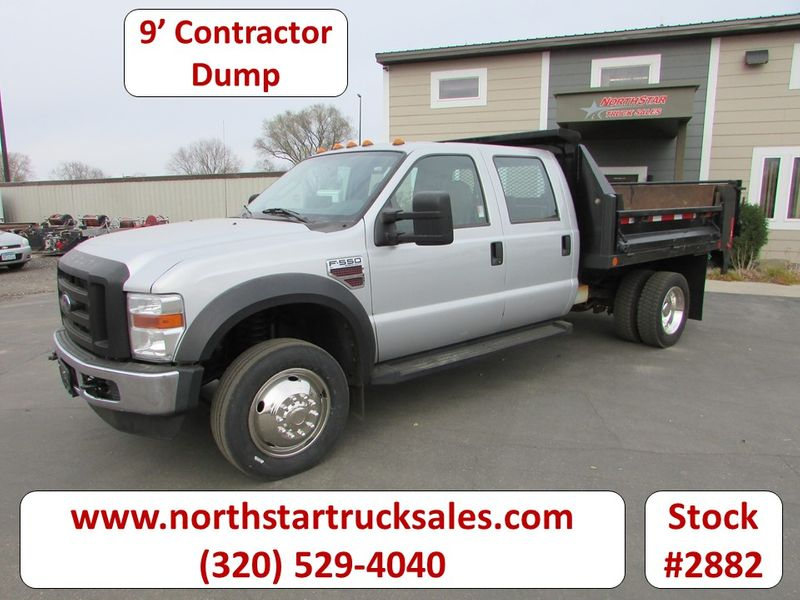 Photo Used 2009 Ford F-550 Crew-Cab Dump Truck