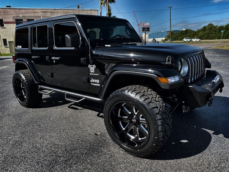 Photo Used 2019 Jeep Wrangler Unlimited BLACKOUT CUSTOM SAHARA HARDTOP LEATHER