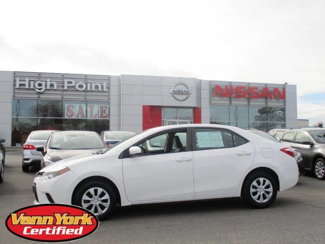 Photo Used 2015 Toyota Corolla 4dr Sdn CVT Auto LEFor Sale in High-Point, NC near Greensboro and Winston Salem, NC