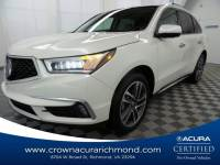 Certified 2018 Acura MDX V6 with Advance Package in Richmond VA